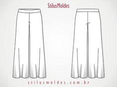 molde de calça social feminina pantalona