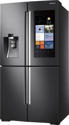 Samsung - Family Hub 27.9 Cu. Ft. 4-Door Flex Smart French Door Refrigerator…