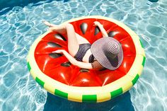 Favorite Summer Spot {lounging on this watermelon pool float}