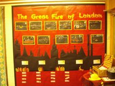 The Great Fire of London Display Banner Fire London, Great Fire Of London, The Great Fire, Primary Resources, Primary Teaching, Teaching Ideas, London Activities, Interactive Activities, Class Displays