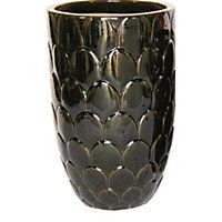 Tall Palm Garden Plant Pot in Brown - 46cm