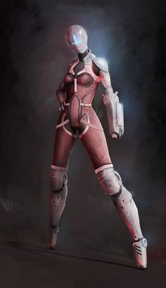 Cyberpunk, Future Girl, Futuristic Suit, Futuristic Clothing, Female Bot, Robot Girl, Android