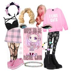 How to be pastel goth by clumsycinderella2992 on Polyvore featuring polyvore fashion style Topshop Heelys Call it SPRING Accessorize