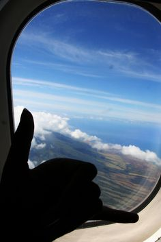 A view of Maui from airplane...a sight I've seem too many times in my dreams. <3