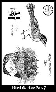 Bird & Bee Paperie Stamp Set 7