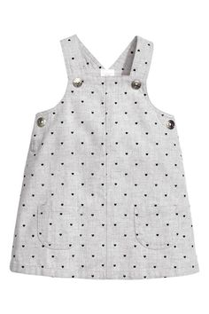 Pinafore dress - Light grey/Heart - Kids | H&M GB