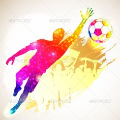 Soccer Goalkeeper Silhouette Soccer Player Goalkeeper and Fans on grunge background, vector illustration Created: GraphicsFilesIncluded: JPGImage Layered: Yes MinimumAdobeCSVersion: CS Tags: background Soccer Tattoos, Photoshop Lessons, Football Banner, Silhouette Art, Sports Activities, Goalkeeper, Soccer Players, Graffiti, Drawings