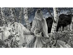 SciFi and Fantasy Art Oromë espies the first Elves by Anke Katrin Eissmann