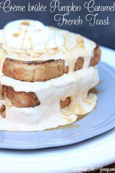 Crème Brûlée Pumpkin Caramel French Toast via Among the Young >> #WorldMarket Fall Harvest, Entertainment Ideas, Fall Recipes