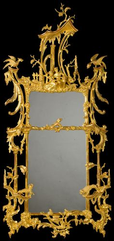 Thomas Johnson George III (C1760) Mirror (MR3) in Hanover (M2A) finish. 950mm wide x 2050mm high x 160mm deep.