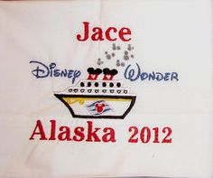 Disney Cruise personalized embroidered by DoodadsWithCharacter, $16.00