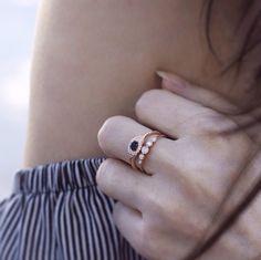 Diamond stacks by Luna Skye #lunaskyejewelry Www.lskyejewelry.com