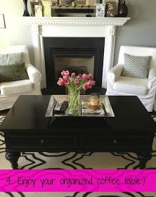 live nest love: Coffee Table Decor & Organization