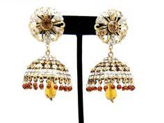 Imitation Designer Victorian Zhumka Bollywood Earring / AZERVE4008-GLD Arras Creations http://www.amazon.com/dp/B00KLS7MBQ/ref=cm_sw_r_pi_dp_XM5.tb065F8K7