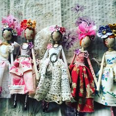 Introducing some romantic love fairy ladies , all for sale £128 each as they always have been , message me to buy #themagpieandthewardrobe #magpieandthewardrobe #sammckechnie  #sammckechniedolls #dollmaker #love