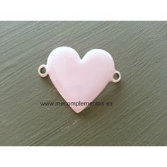Cierre pulsera dos partes con piedra rosa fucsia de zamak con baño de plata