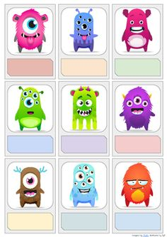 Editable Name Labels/Tags (ClassDojo Monsters edition) Monster Theme Classroom, Classroom Themes, Dojo Monsters, Classdojo For Parents, Class Dojo Rewards, School Name Labels, Monster Invitations, Toddler Class, English Lessons For Kids