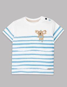 T-shirt à rayures et motif koala | Marks & Spencer London