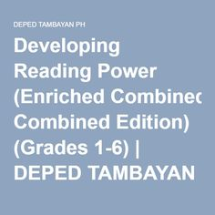Developing Reading Power (Enriched Combined Edition) (Grades by Concordia C. Condez, Saturnina R. Math Bulletin Boards, Grade 2, Reading Comprehension, Grammar, Paper Flowers, Ph, Children, Young Children, Second Grade