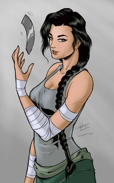 "nocturnal-eyes: "" Kuvira fanart Western style. I did this while waiting for morning to come so I could buy dinner when the stores open after staying up all night working. I tried to use Adrian Ho's..."