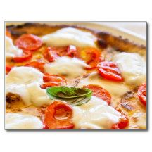 Pizza Margherita Post Card - $0.93