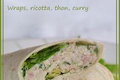 Wraps ricotta, thon, curry