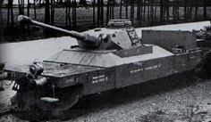 A modified gondola with a Panzer 4 turret designed to help protect trains from ground attack.