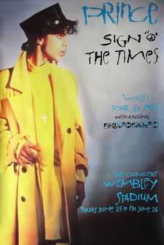 "Classic Prince | 1987 Sign ""☮"" The Times - Concert Poster (photographed)"