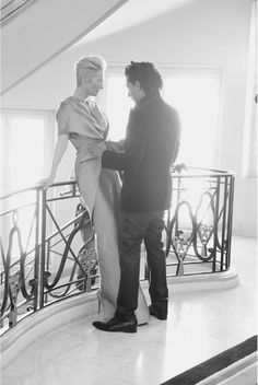 Behind the scenes at Cannes 2012: Designer Haider Ackermann dresses actress Tilda Swinton