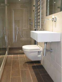 Arredare un bagno lungo e stretto - Bagno stretto e lungo, sanitari su una parete