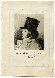 Los Caprichos de Goya Verdadero retrato suyo, de mal humor y gesto satírico.