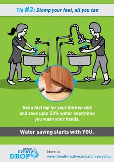 Water Saving Tips on Behance Save Water Pictures, Save Water Poster Drawing, Save Our Water, Water Saving Tips, Bangalore City, Food Safety Tips, Simple Life Hacks, Water Conservation, School Projects
