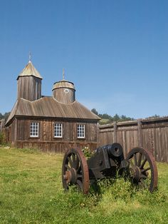 Historical Park of the Russian outpost Fort Ross on the Sonoma Coast of California