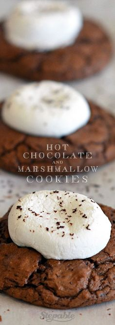 Hot Chocolate Cookies with Marshmallows. Enjoy these for the holidays with a hot mug of hot chocolate and a warm fire #stepable #recipes #cookies