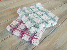 Happy Berry Crochet: How To - Crochet Tartan Plaid Wash Cloths