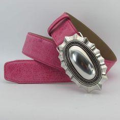 Pink Damen Gürtel 4 cm breit