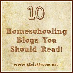 10 Homeschooling Blogs Worth Reading