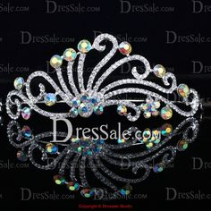 Fabulous Wedding Headpiece with Multi-color Rhinestones for Different Occasions