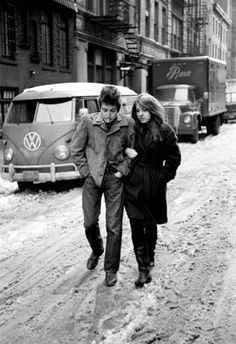 1963 Free Wheelin' Photo shoot for album cover in NYC
