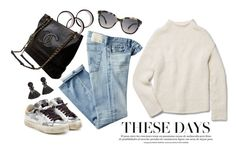 """It's one of those days"" by dantevandenabeele ❤ liked on Polyvore featuring AG Adriano Goldschmied, Theory, Golden Goose, Fendi and H&M"