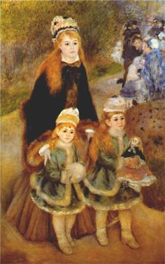 Pierre-Auguste Renoir (French 1841–1919) [Impressionism] Mother and children, 1875.