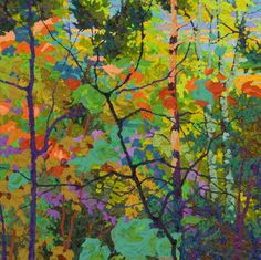 Purple Shadows I, oil on canvas by Frank Balaam at a Scottsdale art gallery