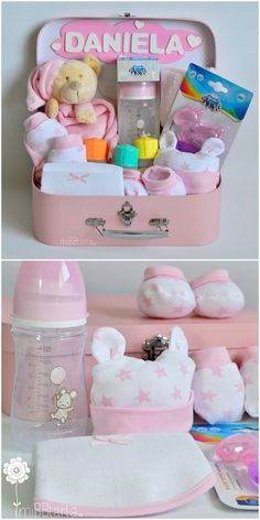 Baby girl shower presents gift ideas 25 ideas Regalo Baby Shower, Idee Baby Shower, Fiesta Baby Shower, Baby Shower Gift Basket, Boy Baby Shower Themes, Baby Shower Parties, Baby Boy Shower, Baby Shower Gifts, Baby Girl Gift Baskets