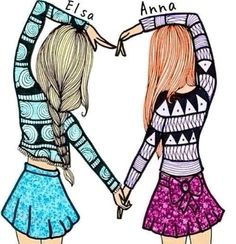 SISTERS!!!!! I ❤ I LOVE ELSA AND ANA  SISTERS FOR EVER