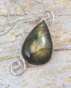 Sterling Silver Labradorite Necklace with a by ElunaJewelry, #jewelry #necklace http://pinterest.com/dorothy5211/silver-necklace/