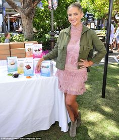 Strike a pose: Sarah Michelle Gellar kicked off the one year anniversary of launching her ...