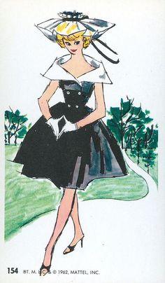 #154 Barbie Jumbo Fashion Trading Card