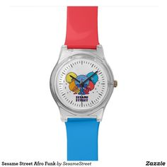Shop Sesame Street Afro Funk Wrist Watch created by SesameStreet. Personalize it with photos & text or purchase as is! Sesame Street Characters, Sesame Street Party, Presents For Kids, Watch Faces, Retro Look, Cool Gifts, Afro, Bracelet Watch, Fashion Accessories