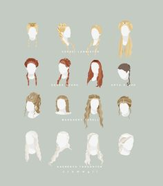 Game of Thrones Hair Infographic!!! <3