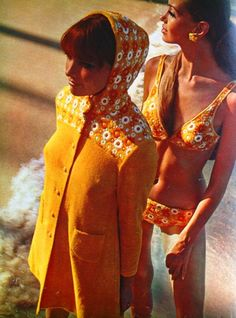 when bathing suits had 'matching cover-ups 60's
